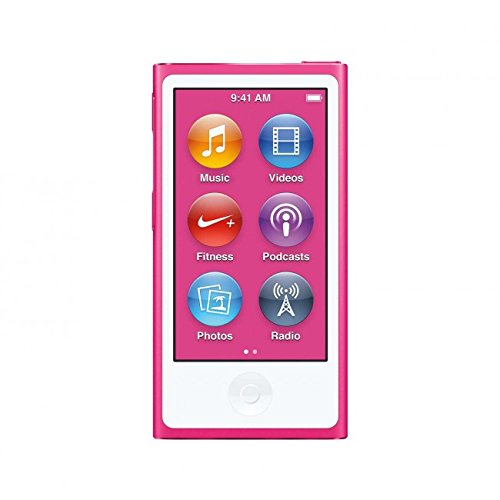 Apple iPod Nano 16GB Pink (8th Generation) MKMV2LL/A (Renewed)