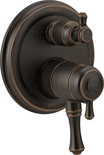 - Delta Faucet T27897-RB Cassidy Traditional Monitor 17 Series Valve Trim with 3-Setting Integrated Diverter, Venetian Bronze
