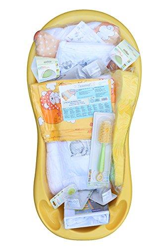 16 St/ücke In Badewanne Cosing C-0406-02 Starterpaket F/ür Neugeborene// Set Zur Erstausstattung Des Babys gelb