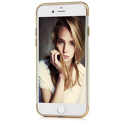 Mavis's Diary Coque iPhone 6 Plus/iPhone 6S Plus TPU Souple Housse de Protection Étui Téléphone Portable Phone Case Cover+Chiffon