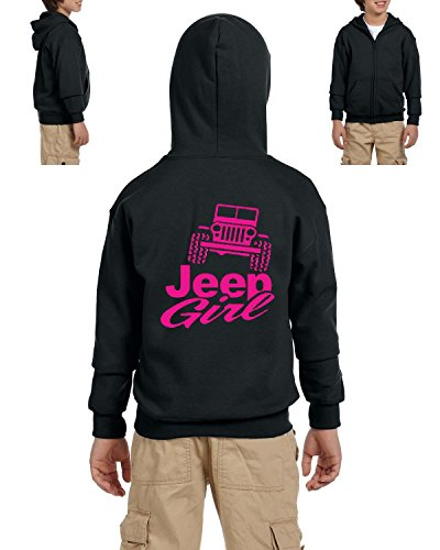 Funny Hoodie Offroad Jeep Girl Trucks Birthday Party Gift Youth Hoodies Zip Up Sweater - Party Youth Sweatshirt