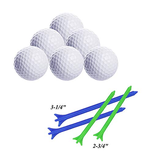 LED Glow Golf Balls, Personalized Practice Light up Golf Ball Glow in Dark for Women Men, Colored Novelty Funny Night Golf Balls Bulk (Pack of 6) by ZLIXING (Image #1)