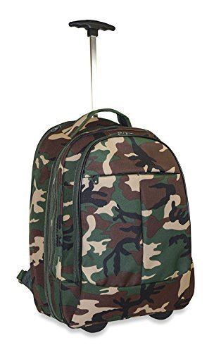 Green Wheeled Backpacks (Ever Moda Camo Wheeled Laptop Backpack (Green))
