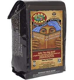 Dean's Beans Organic Coffee Theatre troupe, Aztec Two Step Natural Water Process Decaf, Ground, 16 Ounce Bag (Organic, Fair Trade and Kosher Certified)
