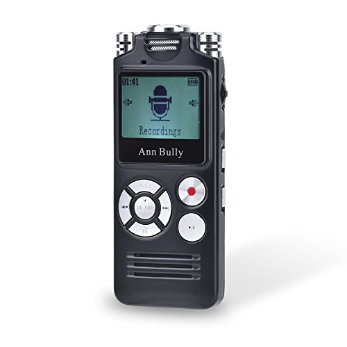 Digital Audio Voice Recorder 8GB MP3 Player AGC Recording One-Touch Recording 1536Kbps Sampling Ultra-high-Fidelity Sound Track Recording (Black) 8821 -