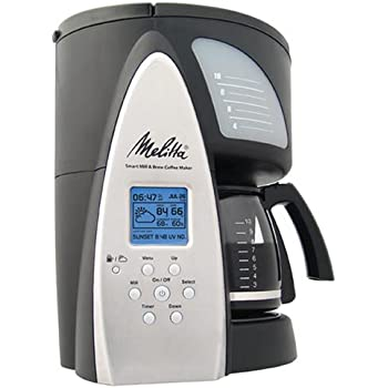 Melitta ME1MSB Smart Mill & Brew 10-Cup Programmable Coffeemaker