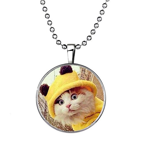 Winter's Secret Lovely Meow Cat Glow Pendant Creative Circle Elements of Animal Noctilucent - Sunglasses Fountain Gate
