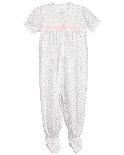 Laura Dare Baby Girls Rosebud Jersey Short Sleeve Infant Jumpsuit Pajama, 03m Pink - Bow Eyelet Dress Pink Rose
