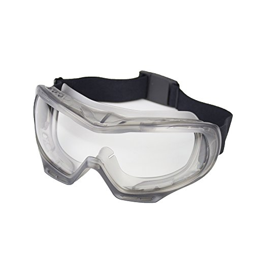 Sellstrom S82000 GM200 Industrial, Chemical Splash Safety Goggle, Protective Eye-wear, Clear Polycarbonate Anti-Fog Lens, Indirect Vent