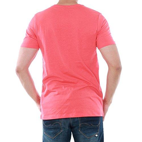 Jack&Jones Herren T-Shirt Kurzarm Rot 12131229 JCOLARIST TEE SS CREW NECK CAYENNE/SLIM