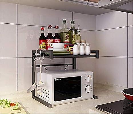 lllaa - Estantería telescópica de Cocina para microondas ...