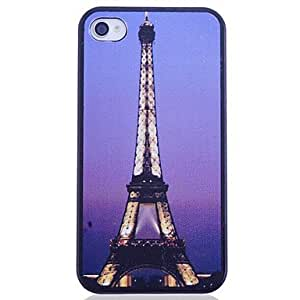 ZXC Eiffel Tower Printing Back Case for iPhone 4/4S