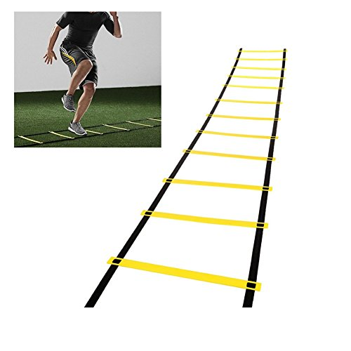 Looching Agility Training ladder, Durable Speed Training Rung Fitness Equipment for Soccer, Speed, Football, Basketball with Carry Bag