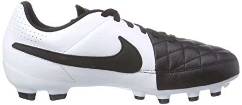 White Unisex Boots Ground Football Black Black Leather Firm Kids' Genio Nike Tiempo vBRFAA