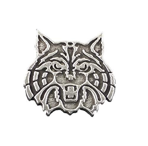 Wildcat Pewter Lapel Pin, Brooch, Jewelry, A1038