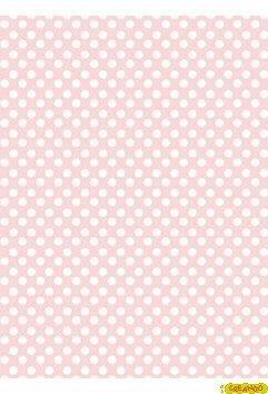 Carta Di Riso Decoupage Cadence Pois Bianco Con Sfondo Rosa Bebe 30