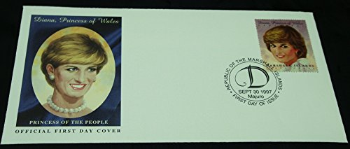- USPS POSTAL COMMEMORATIVE SOCIETY 1997 The Marshall Islands PRINCESS DIANA of WALES First Day Cover Stamp Cachet -MINT