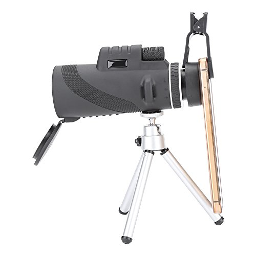 Asixx Telephoto Lens, High Definition Telescopes Monocular Low Light Vision For Camping Hunting, with Cellphone Clip by Asixx