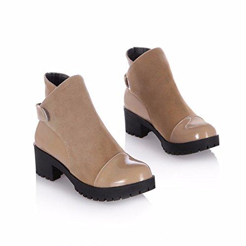 Dans Des De Chaussures Chameau Femmes Bottes Grande Taille Courtes Les Martin KA7FyEf