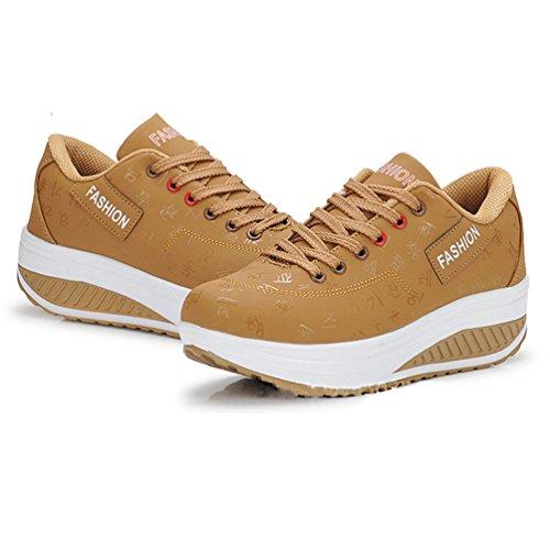 Mode Chaussure Femme 42 Running JRenok Chaussures Casual Antidérapantes de Baskets Cuir Sport Sneakers Shake 35 Loisir wAYqn1nBx