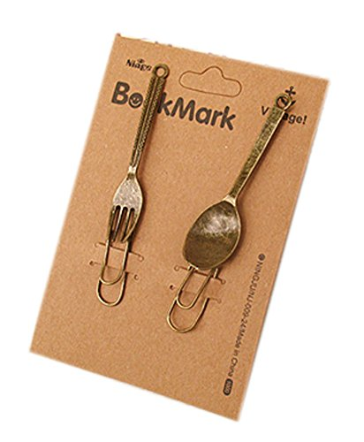 creative-beautiful-bookmarks-metal-clips-fork-and-spoon-design
