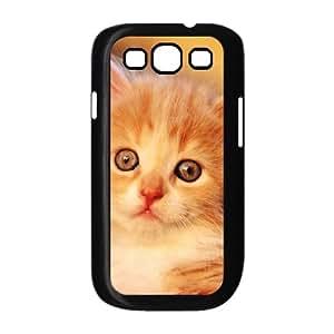 Samsung Galaxy S3 Case Design Adorable Kitty, Cat Samsung Galaxy S3 Case for Woman [Black]