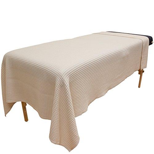 Body Linen Waffle Weave Blanket - Natural