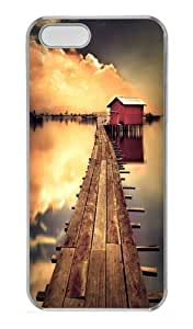 Chalet sunset PC Case Cover for iPhone 5 and iPhone 5s Transparent Halloween gift