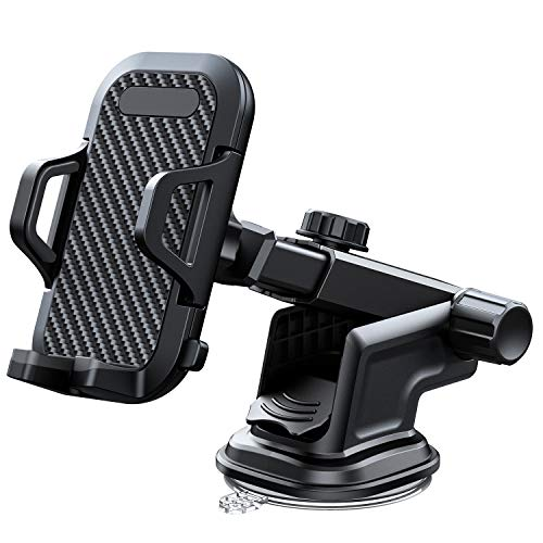 """VANMASS Car Phone Mount, Dashboard Windshield Air Vent Cell Phone Holder for Car with Vent Clip & Dashboard Pad, Strong Stick Suck, One-Touch Design, Car GPS Cradle Compatible 3.5""""-6.5"""" Phone & Cases"""