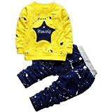 Googo Gaaga Full Sleeves Yellow Sweatshirt with Blue Pant Set