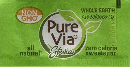 Whole Earth Pure Via Stevia Sweetener 28 2Oz  800 Packets