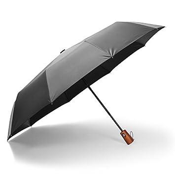 Paraguas / sol paraguas paraguas automático Mango Madera maciza hombres de negocios fuertes PARAGUAS paraguas plegable