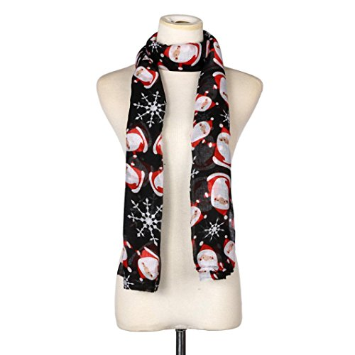 Women Snowflake Satin Square Scarf Shawl