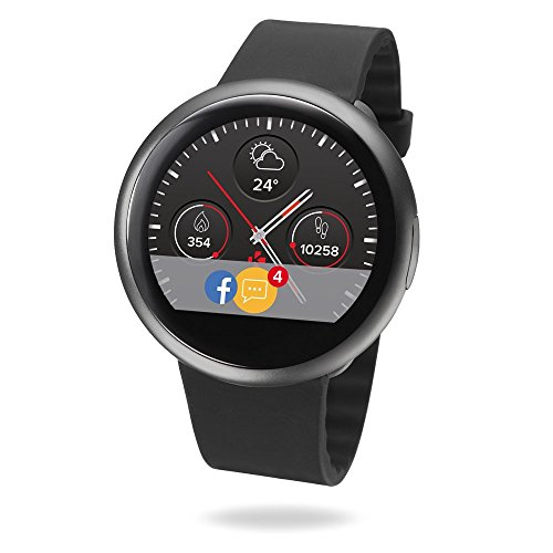 MyKronoz ZeRound2 Smartwatch Circular Color Touchscreen - Black/Black (Certified Refurbished)