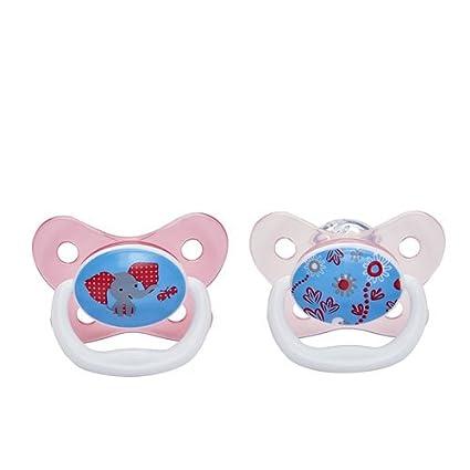 Dr Brown s prevent chupete (6 A 12 meses, color rosa, pack de 2)