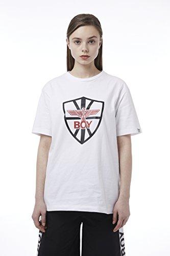 BOY London Unisex (S,M,L,XL) 18SS Shield Shortsleeve T-Shirt - Black,White New_(BH2TS147) (White, XLarge) by BOY London