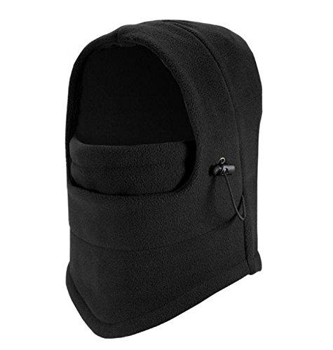 maybefly schwere Winter Warm dicker winddicht Balaclava Outdoor Sports Mask Radfahren Maske, Schwarz