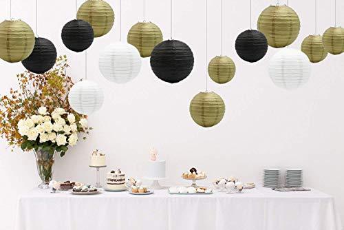 Lampadario Di Carta Velina : Sonnis lanterna dorata rotondae di carta velina decorazione da