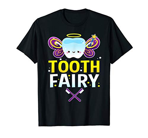 Tooth Fairy Halloween Costume Gift for Adults Kids Men Women T-Shirt