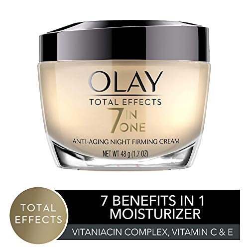 Night Cream by Olay Total Effects Anti-Aging Night Firming Cream & Face Moisturizer, 1.7 Fluid Ounce (Olay Total Effects Eye Cream 7in1 Anti Aging)