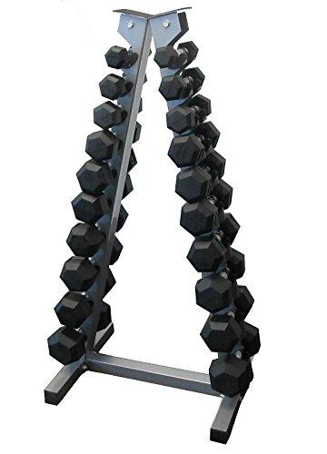 Soporte vertical para mancuernas pequeñas (solo soporte) para 10 pares: Amazon.es: Deportes y aire libre