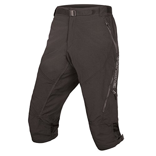 Endura Hummvee 3/4 Baggy Cycling Short II Black, - Cycling Shorts Black Mesh