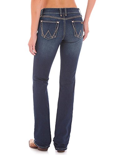 Wrangler Women's Retro Mae Mid Rise Stretch Boot Cut Jean