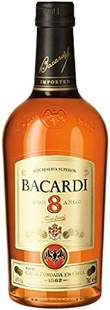 Ron - Bacardi 8 Años 1L: Amazon.es: Alimentación y bebidas