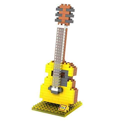 Nanoblock 3D-Puzzle Gitarre - Schö nes Geschenk fü r Musiker mugesh