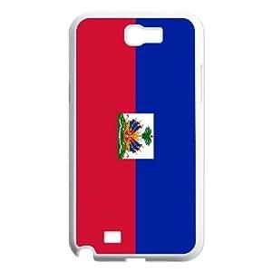 Haiti Flag Samsung Galaxy N2 7100 Cell Phone Case White
