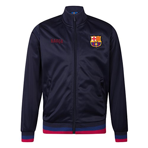FC Barcelona Official Gift Boys Retro Track Top Jacket Navy Barca 8-9 Years MB