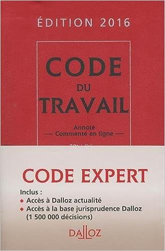 Téléchargement Code Dalloz expert travail 2016 - 14e éd. pdf