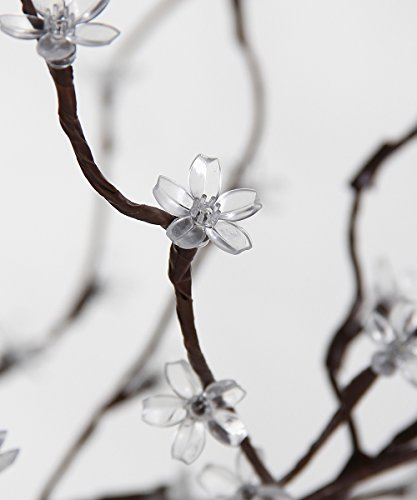 Lightshare LED Blossom Tree, 5 Feet, Warm White Light, Brown Finish, Perfect For Home Decoration, Wedding, Party