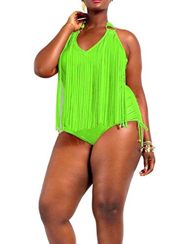 Papaya One piece Fringe Swimsuit Bikini
